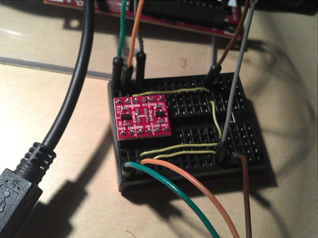 BeagleBoard UART2. Logical level Conversion