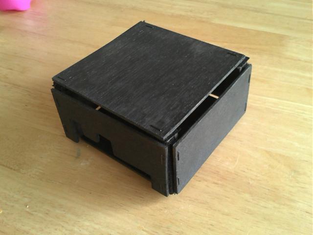 VelcroBox Finished with PandaBoard side panel configuration